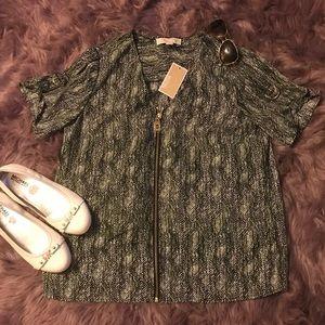 🆕 Michael Kors 🎀 Ivy zippered blouse 🎀